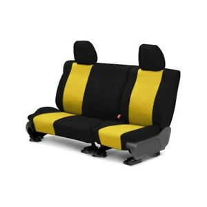 For Toyota Previa 91 93 Caltrend Tweed 2nd Row Black Yellow Custom Seat Covers