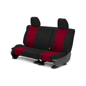 For Toyota Previa 91 93 Caltrend Tweed 2nd Row Black Red Custom Seat Covers