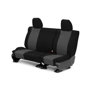 For Toyota Previa 91 93 Tweed 2nd Row Black Charcoal Custom Seat Covers