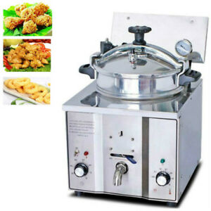 Commercial Electric Fryer Fried Oven Portable 16l Countertop Pressure Chicken