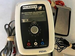 Dental Parkell Electrosurgical Unit Model 25 With Foot Pedal And Multiple Tips