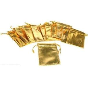 Gold Gift Bag Drawstring Jewelry Pouches 2 5 Kit 216 Pcs
