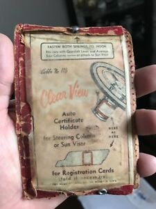 Vintage Cobbs No 115 Clear View Auto Certificate Holder