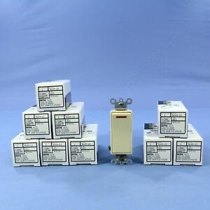 10 Leviton Ivory Decora Lighted Commercial Rocker Light Switches 277v 5649 2i