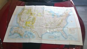 1966 Rand Mcnally United States Recreational Map Very Large