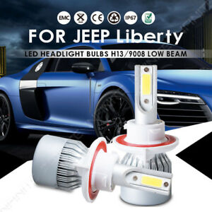 For Jeep Liberty 2012 2008 Led Headlight Conversion Kit Car Front H13 9008 Bulbs