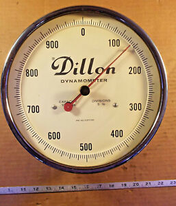 1 USED DILLON DYNAMOMETER CAP 1000lbs DIV 5lbs ***MAKE OFFER***