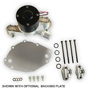 Ac sbf7 Small Block Ford Electric Water Pump 1 1 4 An Passenger Side With Plate