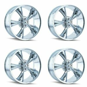 Set 4 17 Ridler 695 Chrome 17x8 5x4 5 0mm Jeep Ford Ranger 5 Lug Classic Rims