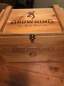 Old School Repop Wooden Browning Ammo Box