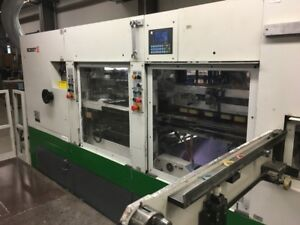 2002 Bobst Sp 104 Er Automatic Die cutter Machine With Blanking Station