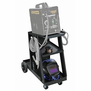 New Mig Tig Welding Cart Free Shipping 100 Lb Capacity Tilted Top Shelf