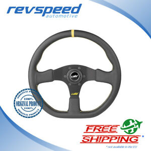 Luisi Italy Racing Stealth Corsa Steering Wheel Black Leather 355mm 14 00 Inch