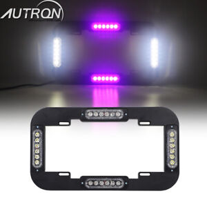 13 5 24w Led License Plate Lights Flash Traffic Adviser Strobe Red White Signal