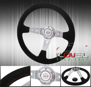 Deep Dish Drifting Tracking Road Race Tuning Sport Steering Wheel Button 6 bolt