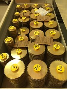 32 Pitch Solid Brass Spur Gears Diy Gears Boston Ma Maker Robot Reducer Box