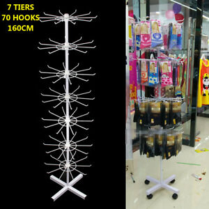 7 layer Product Rotating Display Rack Hat Jewelry Keyring Display Hanging 63