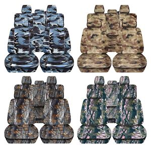 Truck Seat Covers 2011 2014 Ford F150 Camouflage Design Custom Fit Front Rear