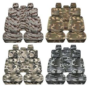 Truck Seat Covers 2015 2018 Ford F150 Camouflage Design Custom Fit Front Rear