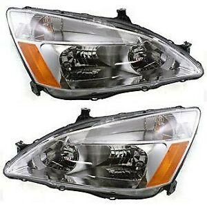 Headlight Set For 2003 2007 Honda Accord Left And Right Capa 2pc