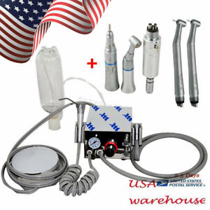 Dental Portable Air Turbine Unit For Compressor 4h high Low Speed Handpiece New