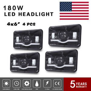 4x6 Led Sealed Beam Headlights Assembly Fit Kenworth T400 T600 120 132 6000k H4