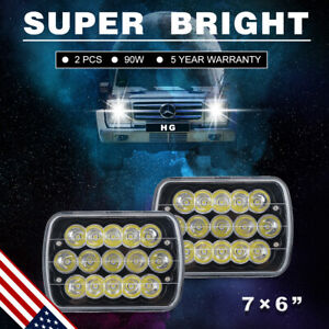 7x6 Led Headlight Assembly Hi low Sealed Beam Fit 2500 3500 Express Cargo H4 7u