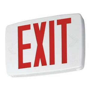 Lithonia Lighting Quantum Plastic Led Emergency Exit Sign With Self diagnostics