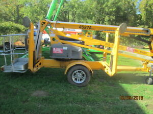 Biljax 4527a Towable Articulated Boom Lift With Extra Basket 2013