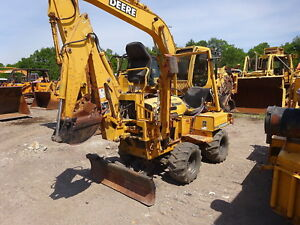 Vermeer Rt450 Trencher Runs Mint 4wd Deutz Dsl Backhoe Rt 450