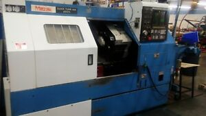 Mazak Cnc Lathe Qt10n Atc M c With Live Tooling And T3 Control Clean Video