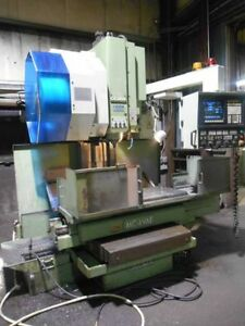 1993 Cnc Okuma 4vae Vertical Machining Center vmc Under Power video detroit