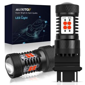 Auxito 2x 3157 3156 Led Brake Light Stop Tail Light Pure Red 3030 14 smd Bulbs