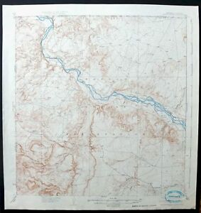 Rattlesnake New Mexico Colorado Vintage 1937 Usgs Topo Map Shiprock Topographic