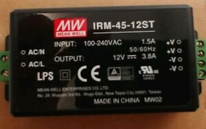 Meanwell Ac dc Module type Power Supply Irm 45 12st