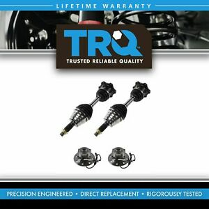 4 Piece Steering Kit Front Cv Axle Assemblies Wheel Hub Bearings For Chevy Gmc