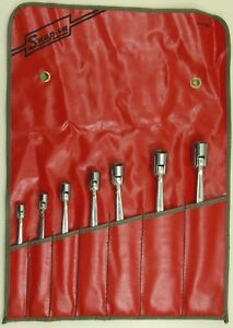 Snap On 7pc Sae Flex Head Open End Wrench Set 3 8 3 4 W C 75b Roll Up Pouch