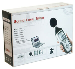 Cem Dt 8852 Digital Sound Noise Db Meter Data Logger w Memory Pc Usb Datalogger