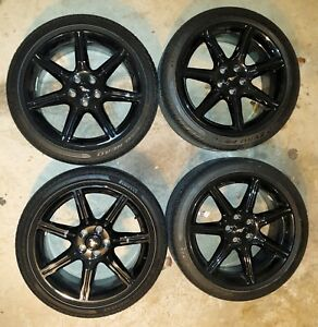 4 Ford 19x8 5 Oem 2018 Mustang Gt Black Rims With Tires 255 40 19