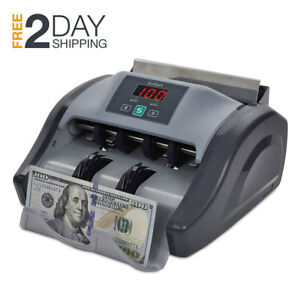 Money Bill Counter Machine Counterfeit Detector Checker Uv Mg Cash Counting Bank