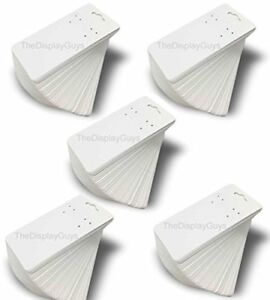 The Display Guys Pack Of 500 Pcs 2x4 Inch 5cmx10xm White Paper Necklace Display