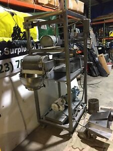 Fmc Syntron Stainless Steel Magnetic Vibratory Feeder W stand Model F 010b