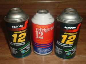Lot Of 3 Full New Old Stock R12 Refrigerant Cans Freon 1 14 oz Can