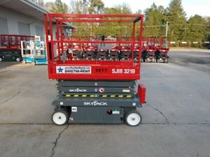 2018 Skyjack Sjiii 3219 Scissor Lift factory Warranty Only 5 4 Hours