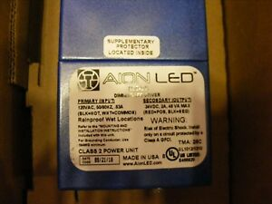 New In Box Aion Led D50 dc 24 2 Amp 50 Watt Led Dimming Driver Free Shipping