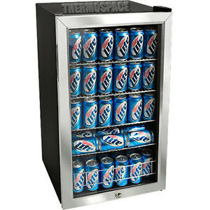 Countertop Locking Glass Door Beverage Refrigerator Display Cooler Mini Fridge