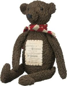 Primitive Christmas Brown Teddy Bear Doll Primitives By Kathy Authorized Dealer