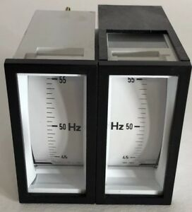 New Ime Double Frequency Meter Indicator Syncro 96df Anrdf11 45 55hz 100 115v