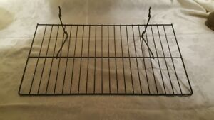 Pegboard Shelves 22 X 12 Metal Wire Also Gridwall Slatwall Fixtures Lot Of 18