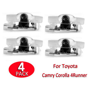 4x For Toyota Door Projector Logo Led Light Shadow Lamp Wireless Courtesy Laser